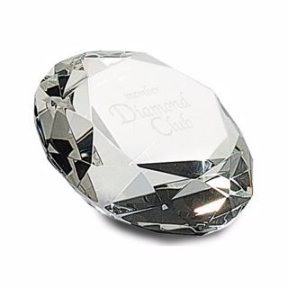 Crystal Diamond Award 8"