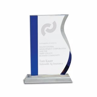 Crystal Blue Wave Award 8"