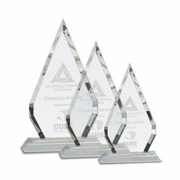 Crystal Jewel Award | 3 Sizes Available | Engraving Included