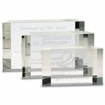 Crystal Solitaire Award | 3 Sizes Available | Engraving Included