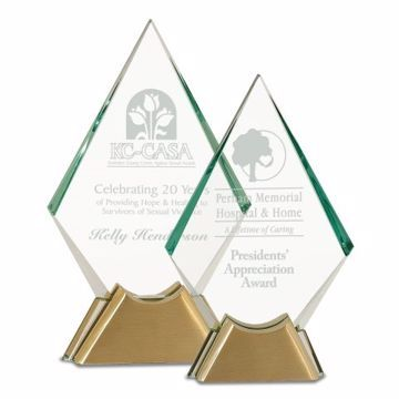 Jewel Glass Award | 2 Sizes Available | Engraving Included