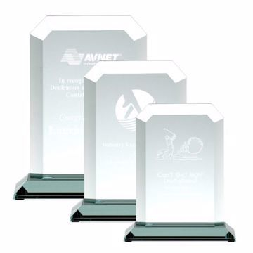 Cairo Glass Award | 3 Sizes Available | Engraving Included
