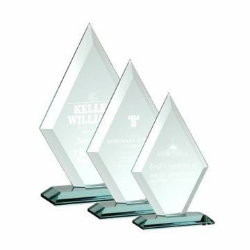 Grand Diamond Glass Award | 3 Sizes Available | Engraving Included