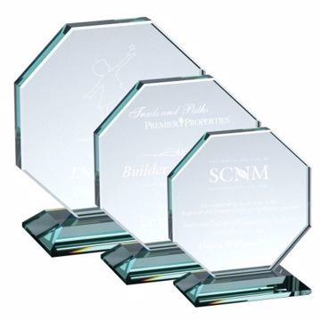 Octagon Glass Award | 3 Sizes Available | Engraving Included