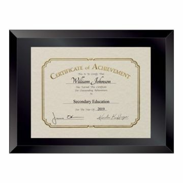 Beveled Glass Document Frame | Certificate Not Included
