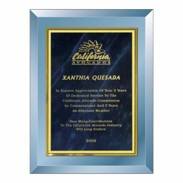 """Blue Mirror Plaque 9"""" x 12"""" 