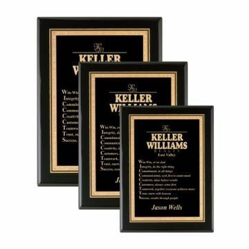 Black Lacquer Plaque | 3 Sizes Available | Engraving Included