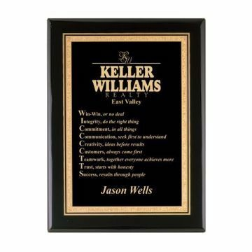 """Black Lacquer Plaque 9"""" x 12"""" 