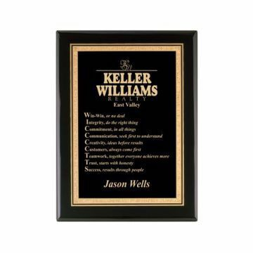 """Black Lacquer Plaque 8"""" x 10"""" 