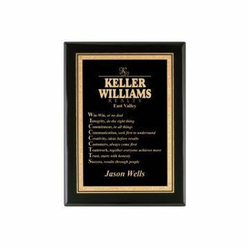 """Black Lacquer Plaque 7"""" x 9"""" 