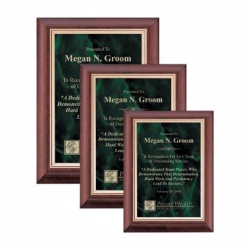 Emerald Marble Plate Cherry Plaque | 3 Sizes Available | Engraving Included