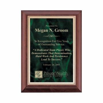 """Emerald Marble Plate Cherry Plaque 9"""" x 12"""" 