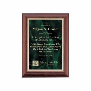 """Emerald Marble Plate Cherry Plaque 8"""" x 10"""" 