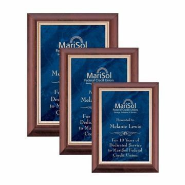 Sapphire Marble Plate Cherry Plaque | 3 Sizes Available | Engraving Included