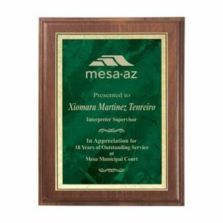 "Emerald Marble Plate Plaque 9"" x 12"" 