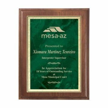 """Emerald Marble Plate Plaque 9"""" x 12"""" 