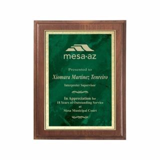 "Emerald Marble Plate Plaque 8"" x 10"" 