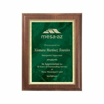 """Emerald Marble Plate Plaque 8"""" x 10"""" 