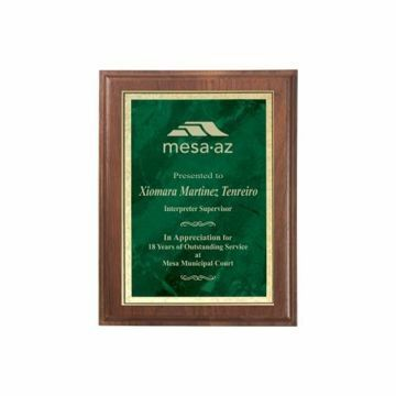 """Emerald Marble Plate Plaque 7"""" x 9"""" 