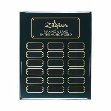 "Black Piano Finish Perpetual Plaque 10 1/2"" x 13"" 