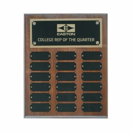 """Solid Walnut Perpetual Plaque 10 1/2"""" x 13"""" 