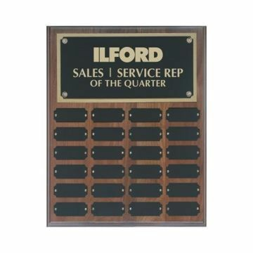 "Solid Walnut Perpetual Plaque 12"" x 15"" 