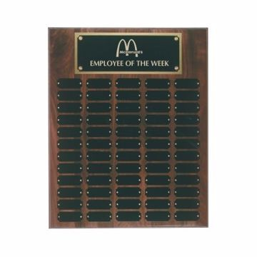 "Solid Walnut Perpetual Plaque 16"" x 20"" 