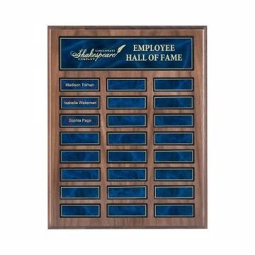 "Walnut Perpetual Plaque 12"" x 15"" 