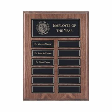 "Solid Walnut Perpetual Plaque Magnetic 9"" x 12"" 