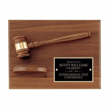"Sounding Block Gavel Plaque 9"" x 12"" 