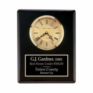 """Wall Clock Black Piano Finish 10 1/2"""" x 13"""" 