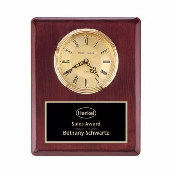 """Wall Clock Rosewood Piano Finish 10 1/2"""" x 13"""" 