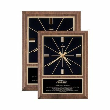 Solid Walnut Wall Clock Traditional | 2 Sizes Available | Engraving Included