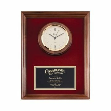 "Walnut Framed Wall Clock 10"" x 13"" 