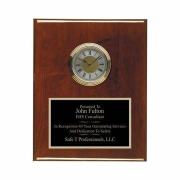 "Rosewood Piano Finish Wall Clock 8"" x 10"" 