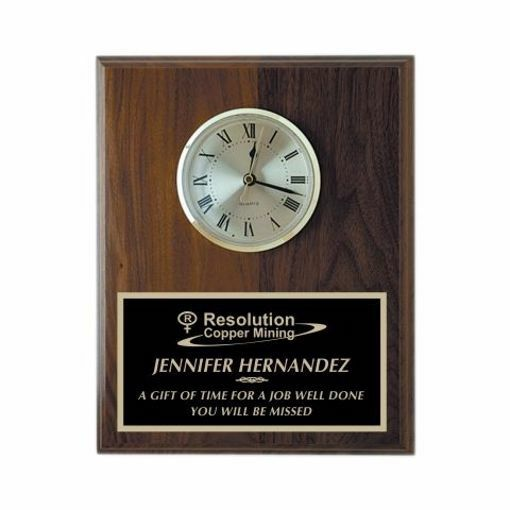 """Wall Clock Solid Walnut 8"""" x 10"""" 