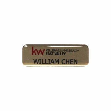 Epoxy Name Tag 1 x 3 Gold