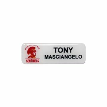 Epoxy Name Tag 1 x 3 White