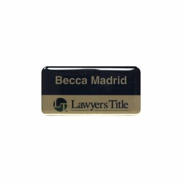 Epoxy Name Tag 1.5 x 3 Gold