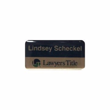 Epoxy Name Tag 1.5 x 3 Bronze