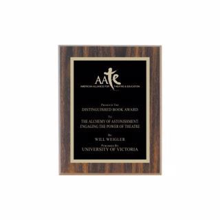 """Value Walnut Plaque 7"""" x 9"""" 