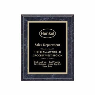 """Value Black Marble Plaque 7"""" x 9"""" 