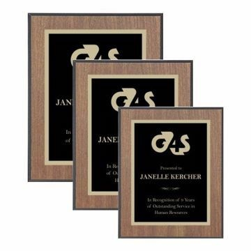 Value Walnut Plaque Black Edge | 3 Sizes Available | Engraving Included