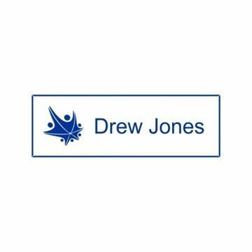1x3 White Blue Name Tag