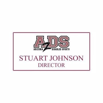 1.5 x 3 Name Tag White Engraves Maroon | Full Color Imprint
