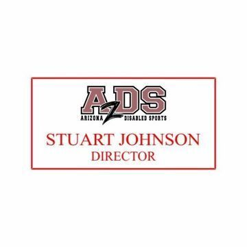 1.5 x 3 Name Tag White Engraves Red | Full Color Imprint