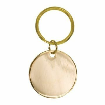 Circle Brass Keychain | Engraving Included