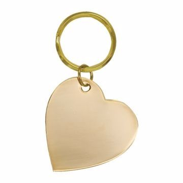 Heart Brass Keychain | Engraving Included