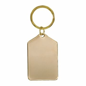 Rectangle Brass Keychain | Engraving Included
