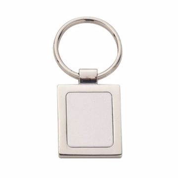 Square Shaped Silver Keyring | Engraving Included